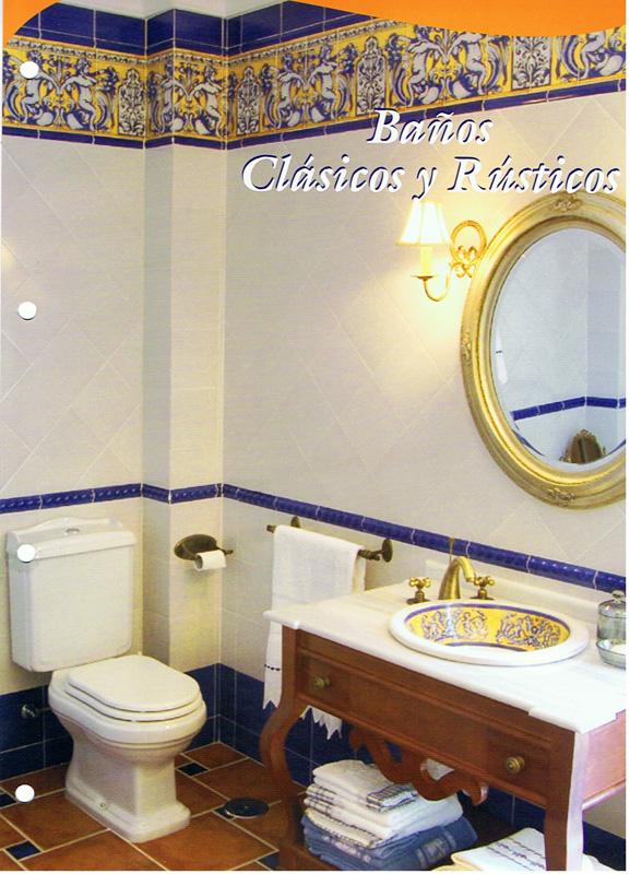 Azulejos para ba o pintados a mano for Azulejos clasicos